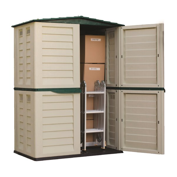 5 ft. W x 2 ft. 9 in. D Plastic Vertical Tool Shed by Starplast
