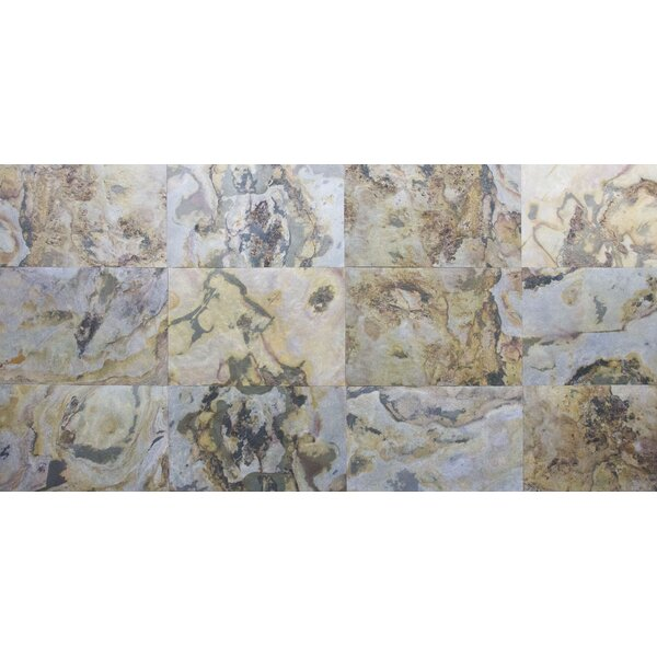 Thin Flexible 16 x 24 Natural Stone Field Tile in Oyster Cloud by Stone Design