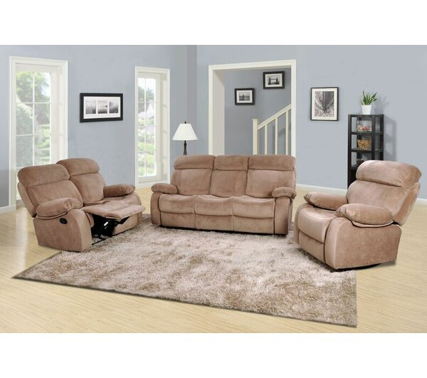 Percy Reclining 3 Piece Living Room Set by Beverly Fine Furniture