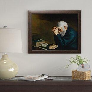 Old Man Praying Picture Wayfair