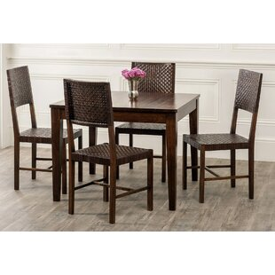Gambino 5 Piece Wood Dining Set By Bloomsbury Market