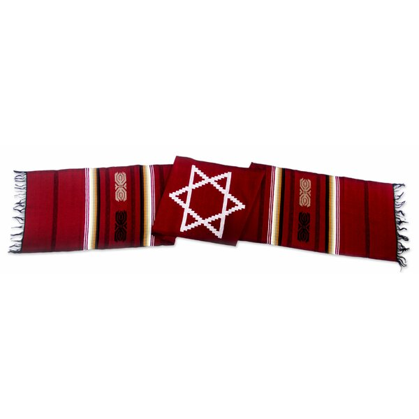 Star of David Cotton Table Runner by Novica