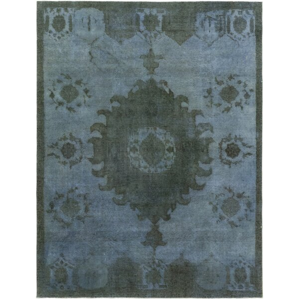 One-of-a-Kind Dette Hand-Knotted Wool Blue/Green Indoor Area Rug by Bloomsbury Market