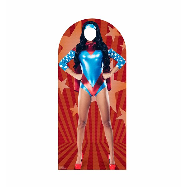 Woman Superhero Cardboard Stand-In by Advanced Graphics