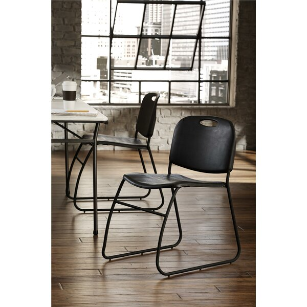 Commercial Contoured Back Resin Stacking Chair (Set of 4) by Cosco Home and Office