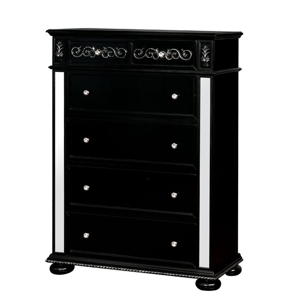 Orrington 5 Drawer Standard Dresser by Everly Quinn