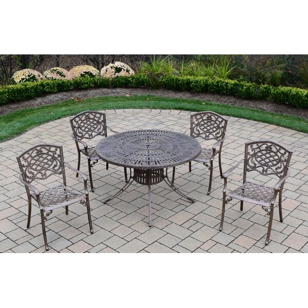 Robbinsdale 5 Piece Dining Set by Fleur De Lis Living