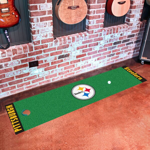 NFL Pittsburgh Steelers Putting Green Mat by FANMATS