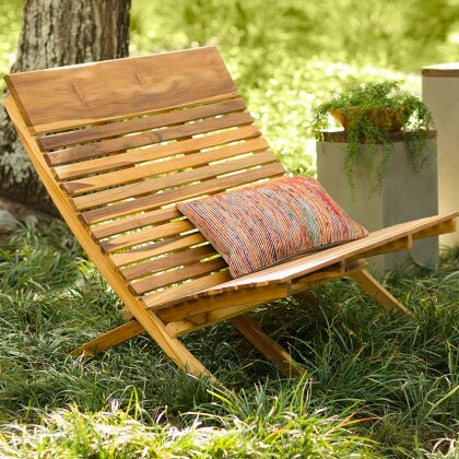 Crowders Teak Garden Bench by Bloomsbury Market