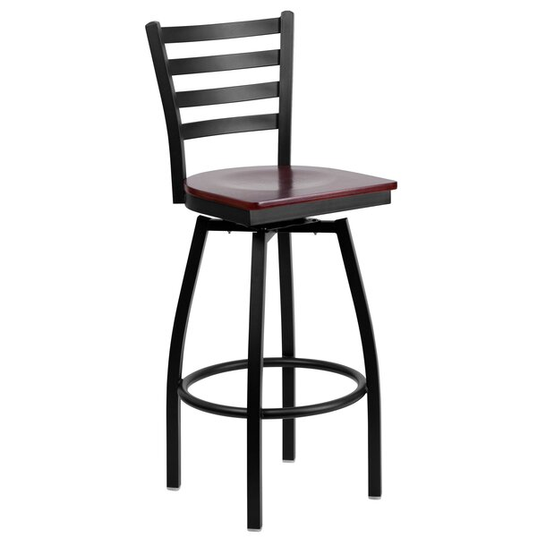 Alhambra 30.25 Swivel Bar Stool by Charlton Home