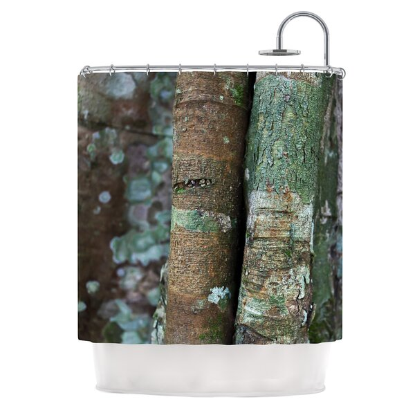Into the Woods by Susan Sanders Rustic Shower Curtain by East Urban Home