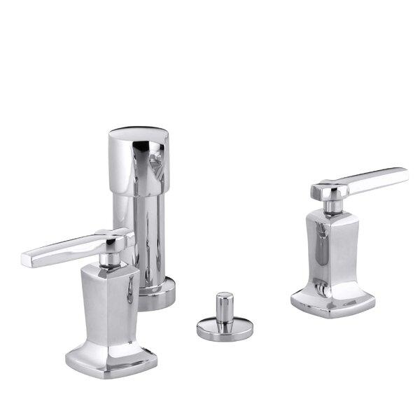 Margaux Vertical Spray Bidet Faucet with Lever Handles by Kohler