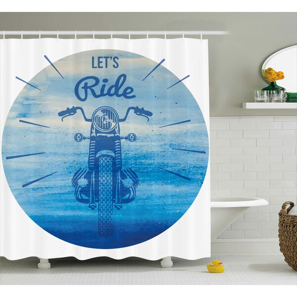Hand Drawn Shower Curtain by East Urban Home