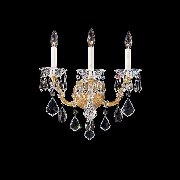 Maria Theresa 3-Light Candle Wall Light by Schonbek
