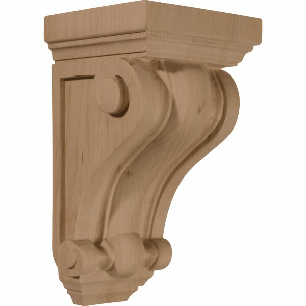 Devon 7 1/2H x 4W x 4D Traditional Wood Corbel in Alder by Ekena Millwork