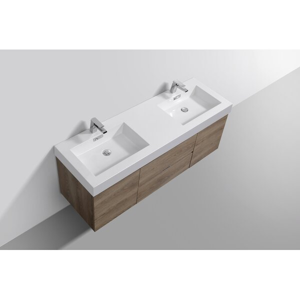 Malakai 59 Wall-Mounted Double Bathroom Vanity Set