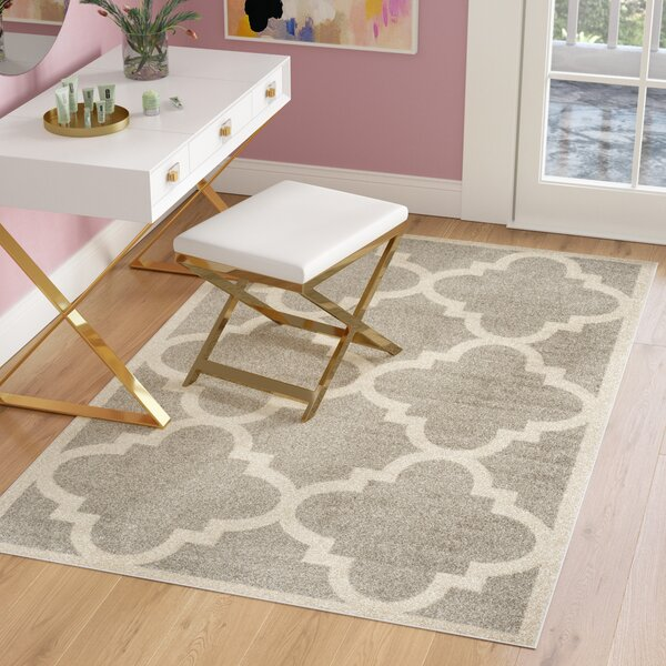 Maritza Light Grey & Beige Area Rug by Willa Arlo Interiors