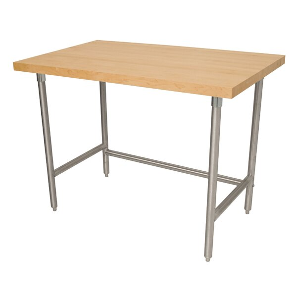 Prep Table with Wood Top by Advance Tabco