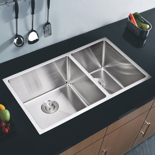 Brier Double Bowl Kitchen Sink by dCOR design