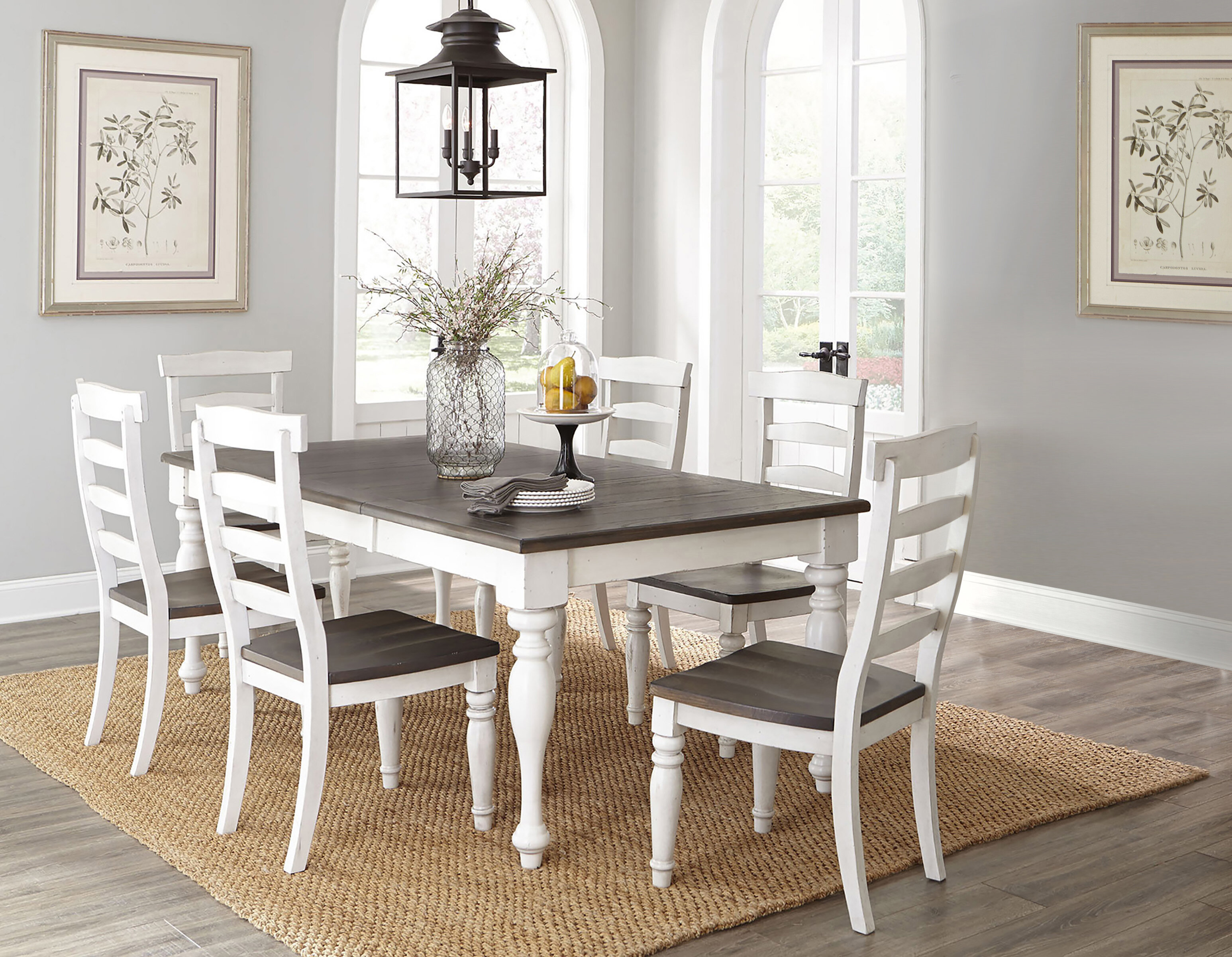 Arlene Extendable Solid Oak Dining Set