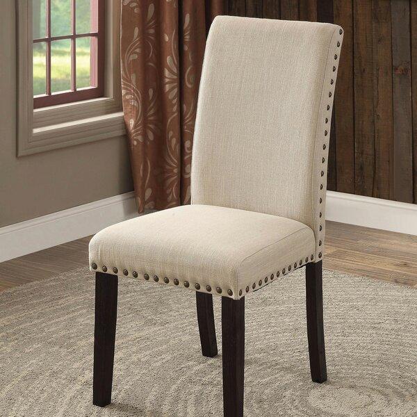 Benson Upholstered Side Chair In Beige (Set Of 2) By Rosalind Wheeler
