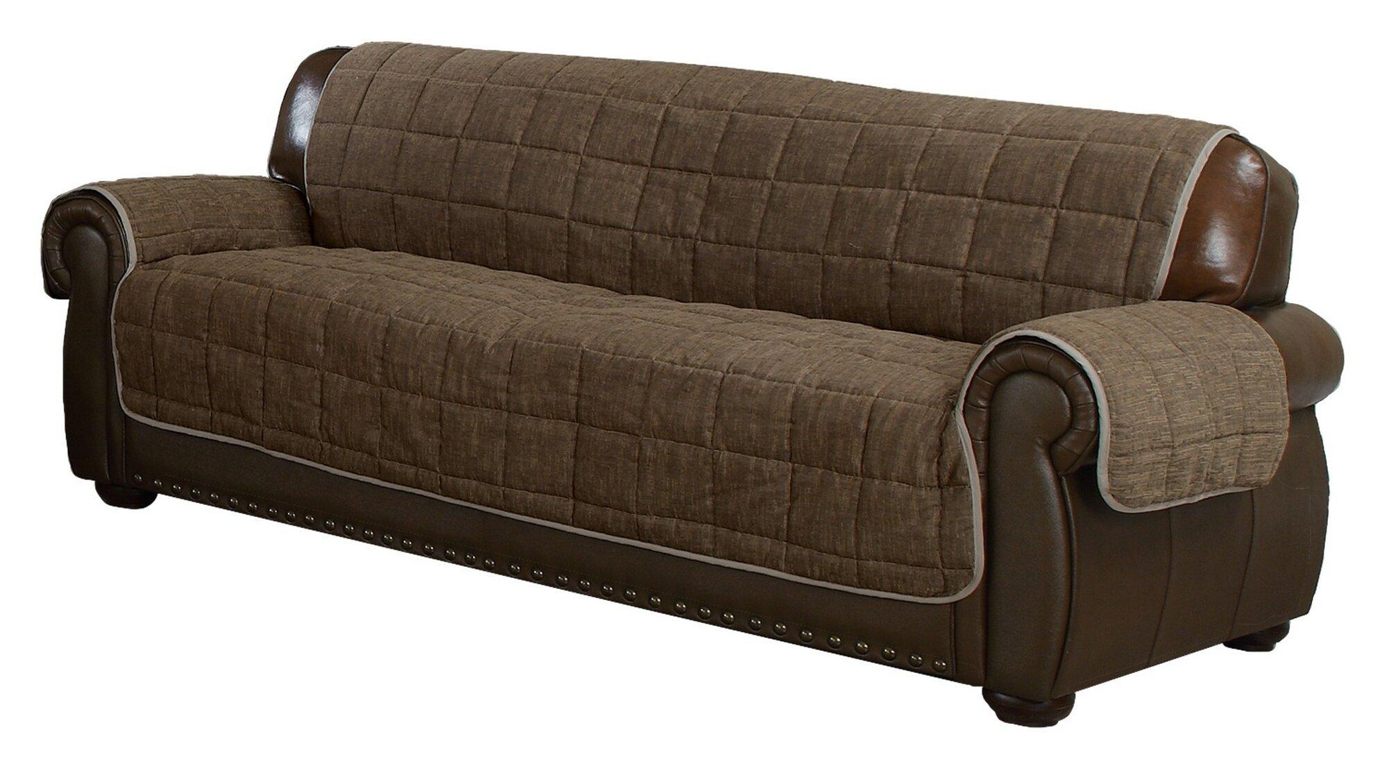 Red Barrel Studio Reversible Box Cushion Sofa Slipcover