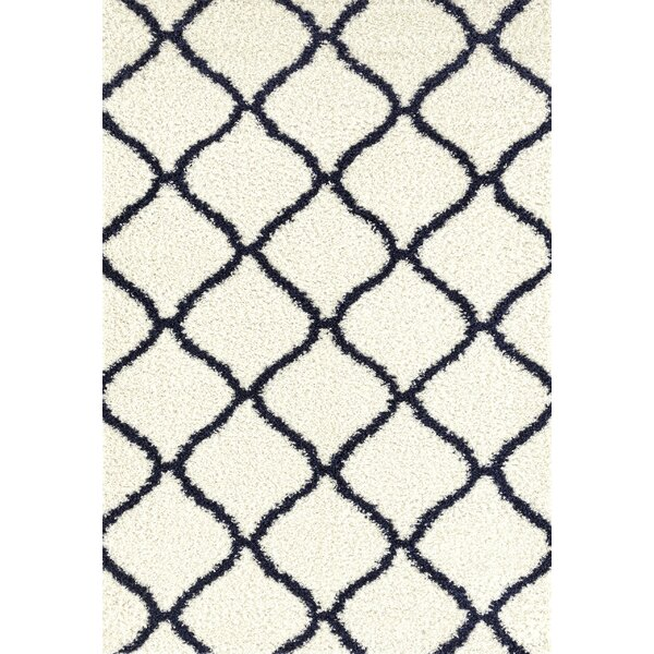 Strothers Shag Cream Area Rug by Charlton Home