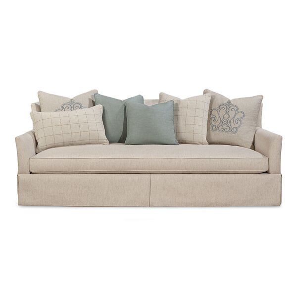 Palm Harbor Upholstered Skirted Sofa by Rosecliff Heights