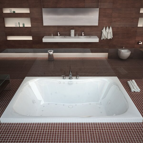Dominica Dream Suite 58 x 40.5 Rectangular Air & Whirlpool Jetted Bathtub by Spa Escapes