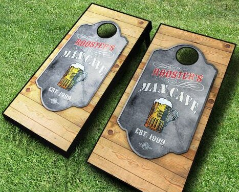 Personalized Man Cave Cornhole Set by AJJ Cornhole