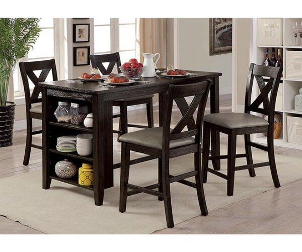 Ilya 5 Piece Counter Height Dining Set by Alcott Hill