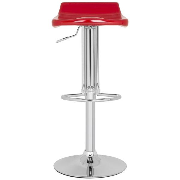 Avish Adjustable Height Swivel Bar Stool by Safavieh