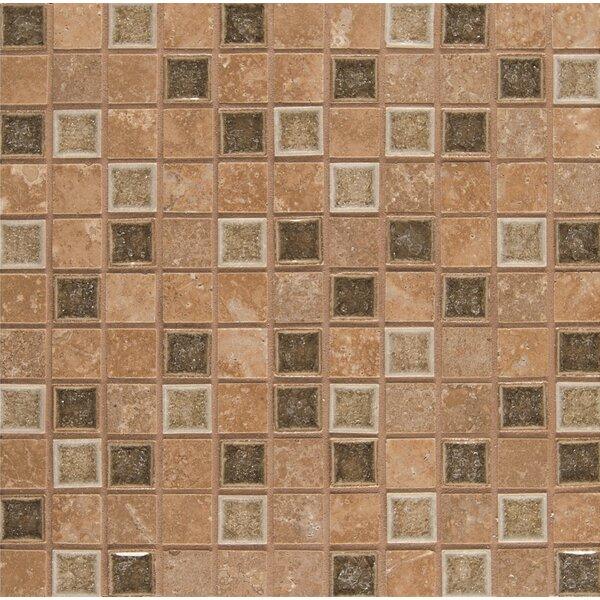 Kisment 1 x 1 Glass Mosaic Tile in Euphoria by Bedrosians