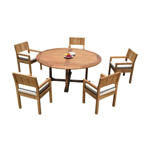 Gianni 6 Piece Teak Dining Set by Rosecliff Heights