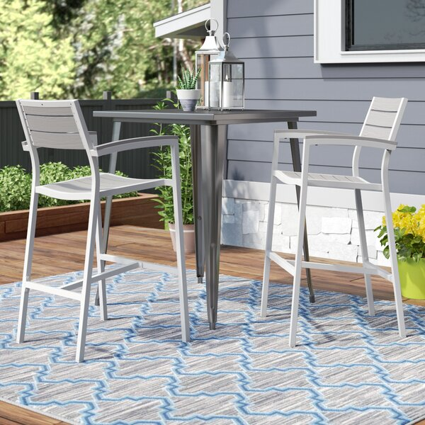Ellport 43.5 Patio Bar Stool (Set of 2) by Latitude Run