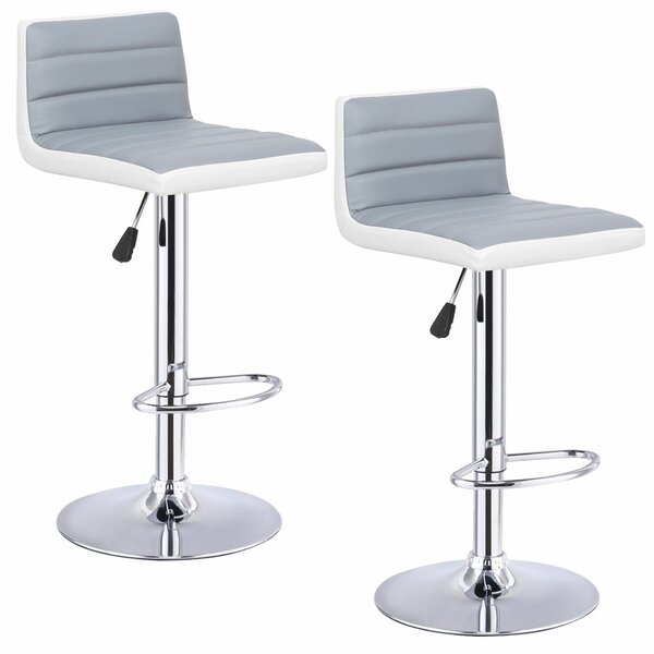 Couch Adjustable Height Swivel Bar Stool (Set of 2) by Orren Ellis