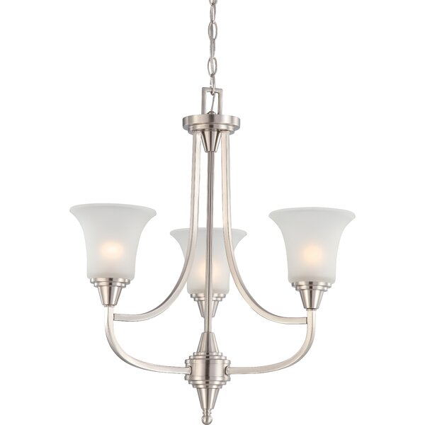 Reynal 3 - Light Shaded Empire Chandelier By Charlton Home