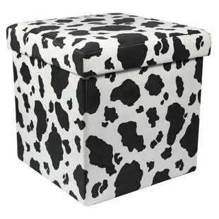 Animal Print Storage Ottoman ...