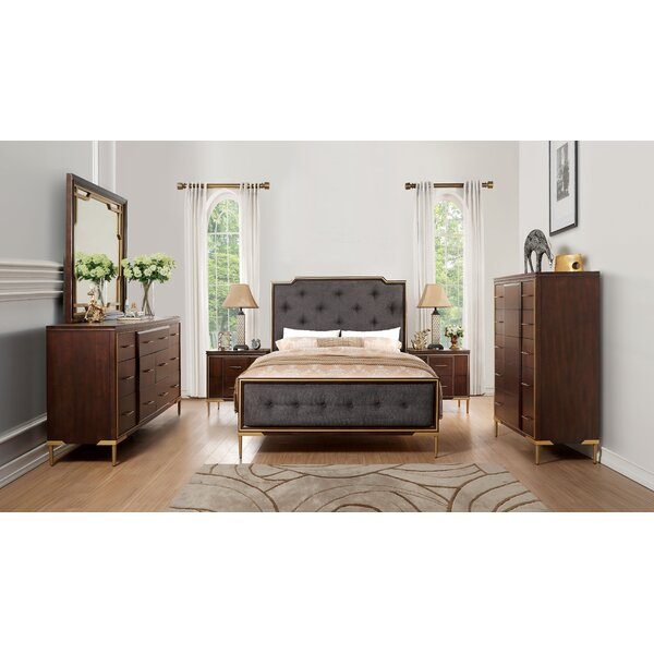 Laufer Upholstered Standard Bed by Everly Quinn