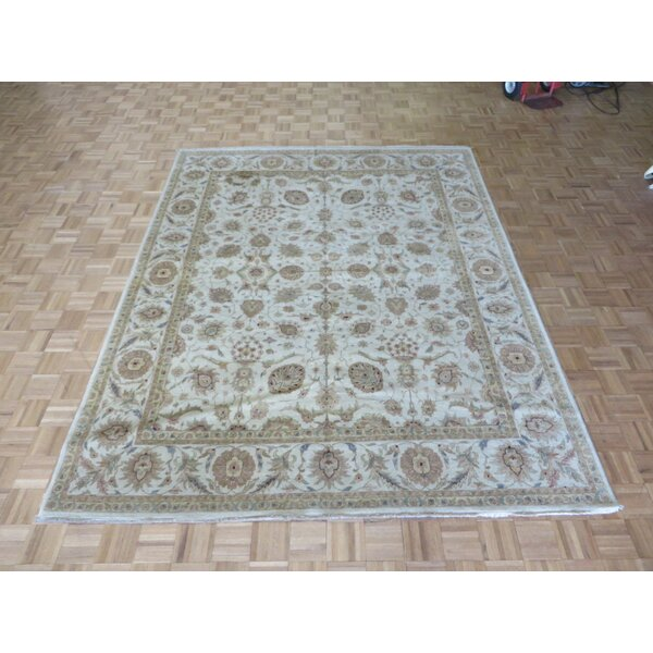 One-of-a-Kind Rhyne Peshawar Oushak Hand-Knotted Wool Beige Area Rug by Astoria Grand