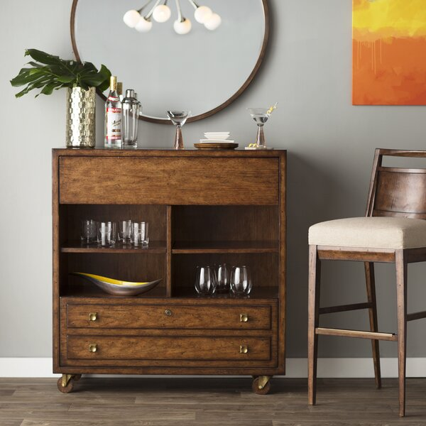 Copper Canyon 1 Drawer Mobile Bar by Langley Stree