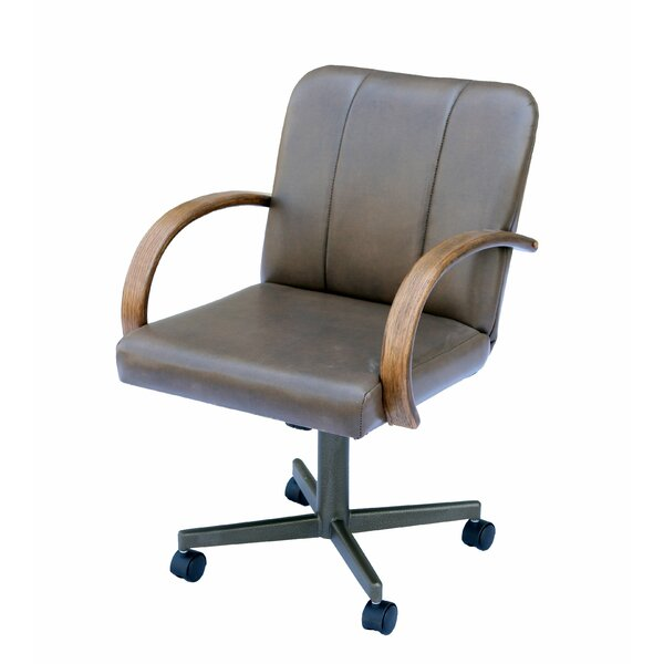Spraggins Casual Caster Upholstered Dining Chair by Millwood Pines