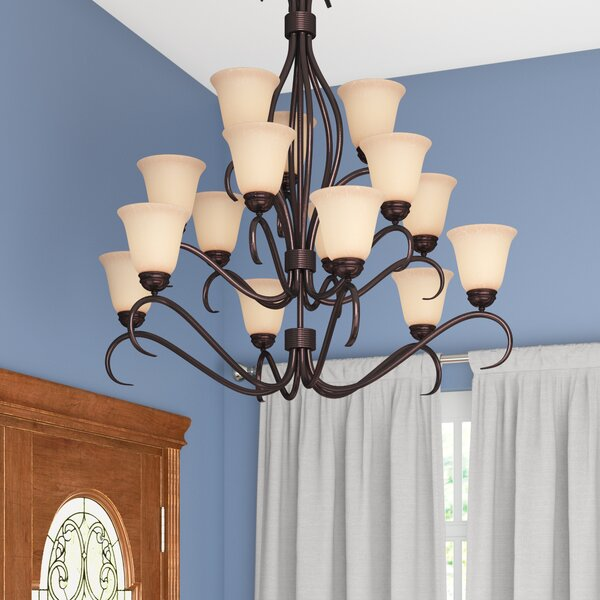 Wehr 15 - Light Shaded Classic / Traditional Chandelier by Charlton Home Charlton Home