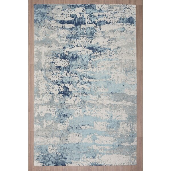 Loni Chenille Cotton Blue Area Rug by Brayden Studio