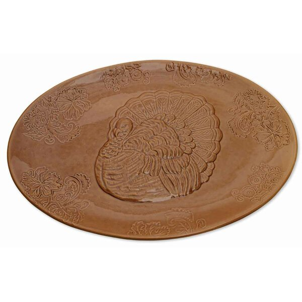 Turkey Oval Platter by The Holiday Aisle