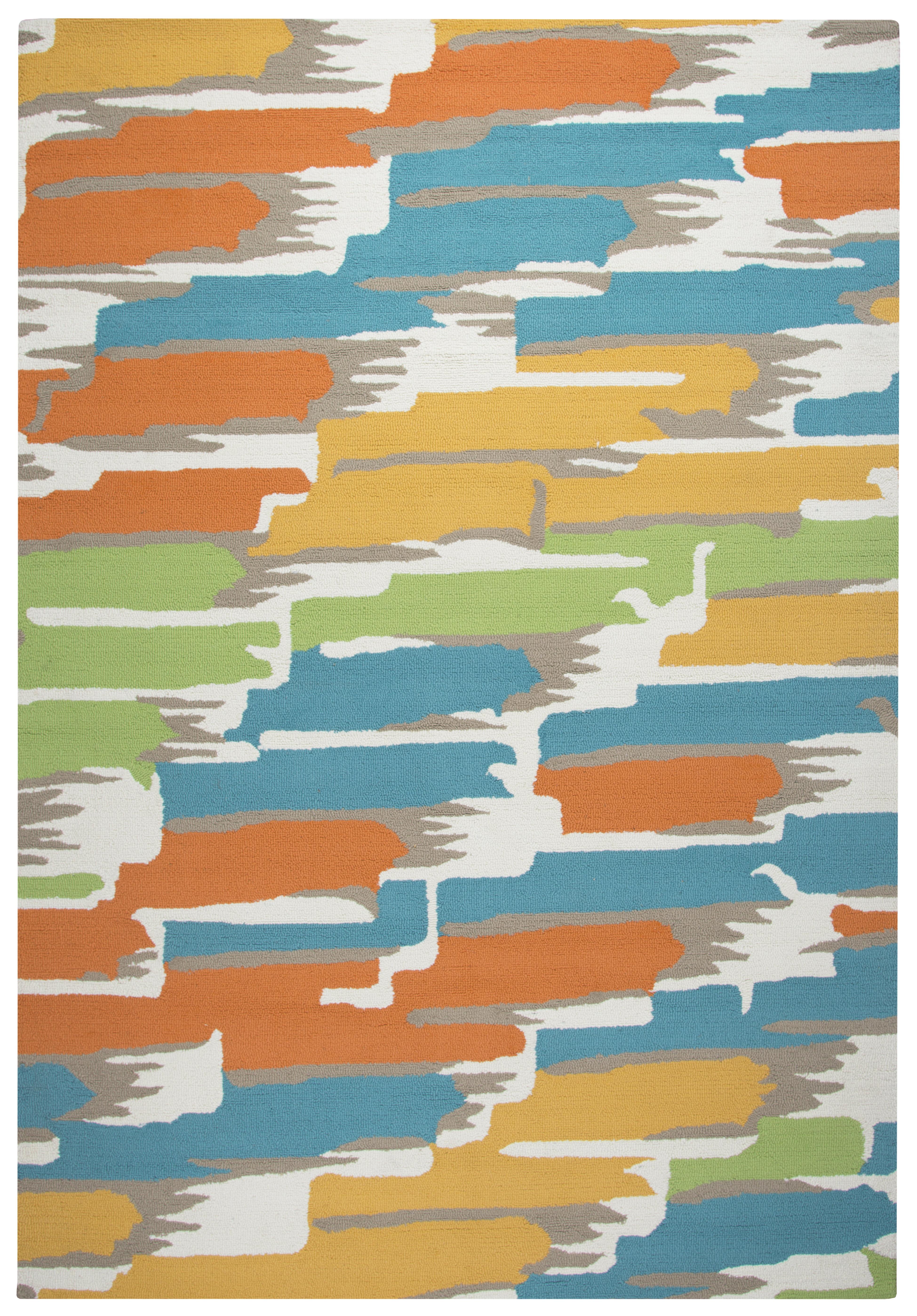 Ebern designs evangeline water resistant hand tufted for Water resistant outdoor rug