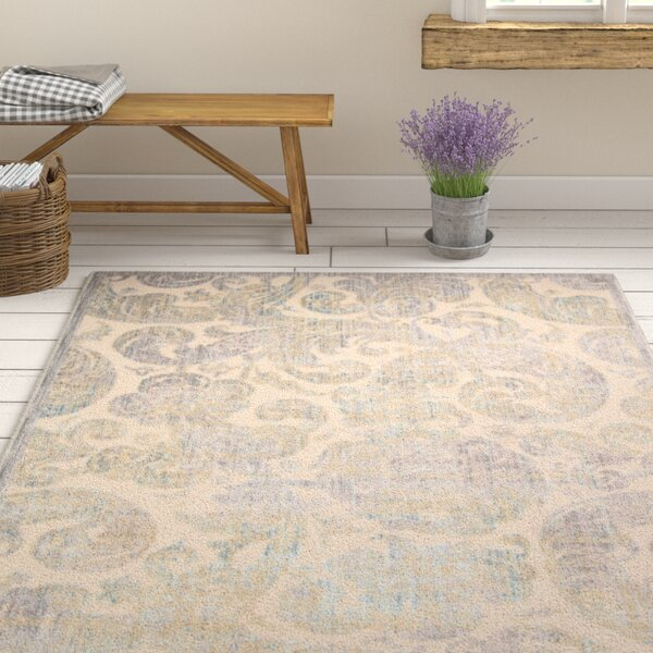 Ouellette Ivory Area Rug by One Allium Way