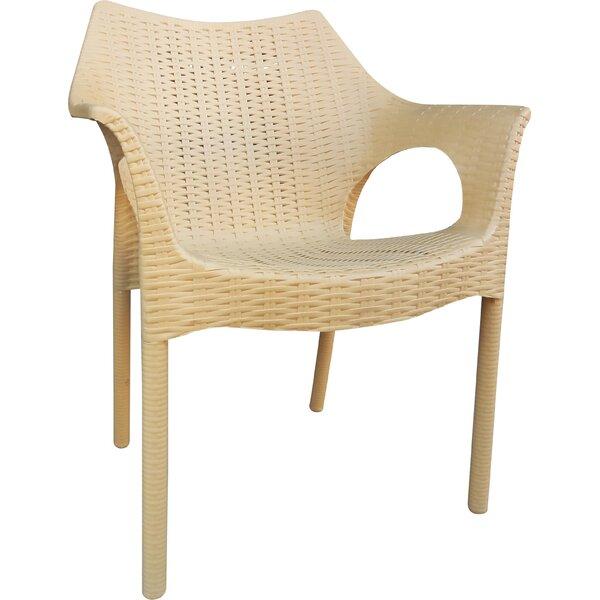 Rockwell Carina Weatherproof Patio Chair (Set of 2) by Wrought Studio Wrought Studio