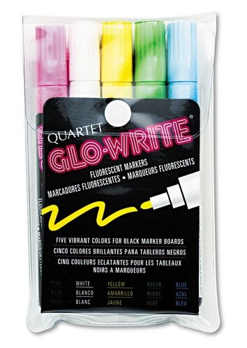 Glo-Write Fluorescent Markers (Set of 5) by Quartet®