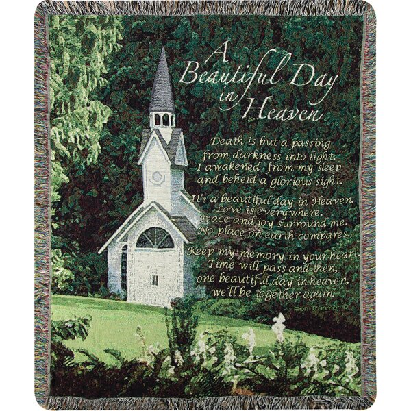 A Beautiful Day in Heaven Tapestry Cotton Throw by Manual Woodworkers & Weavers